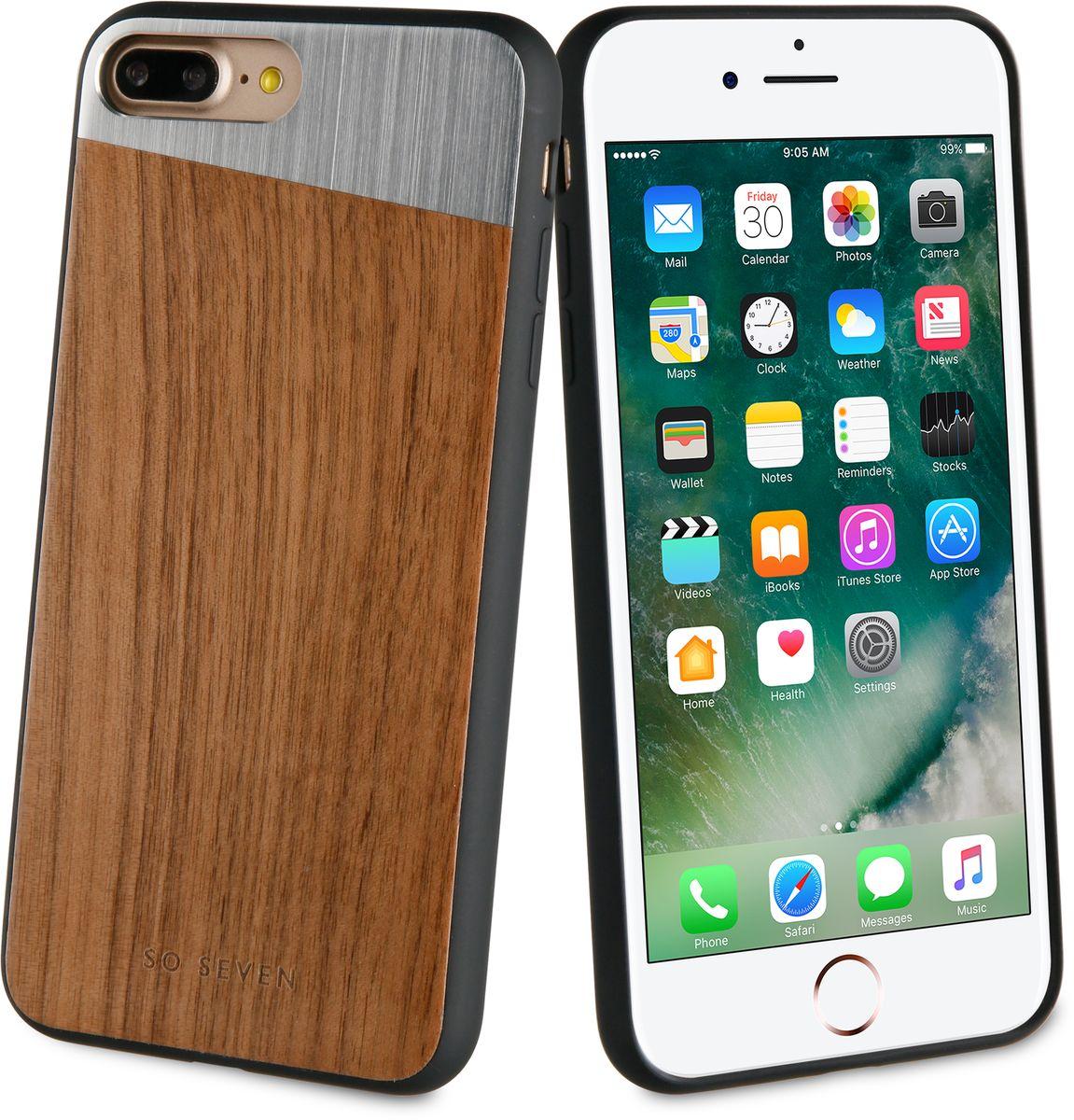 So Seven The Sulfurous чехол для Apple iPhone 7/8 Plus, Dark Wood MetalSVNCSMWSIP7PLUSЗащитный эффектный чехол-накладка, выполнен из полиуретана, металла и натурального дерева. Обеспечивает эффективную защиту Вашего устройства.Материал полиуретан Металл + натуральное дерево Противоударный