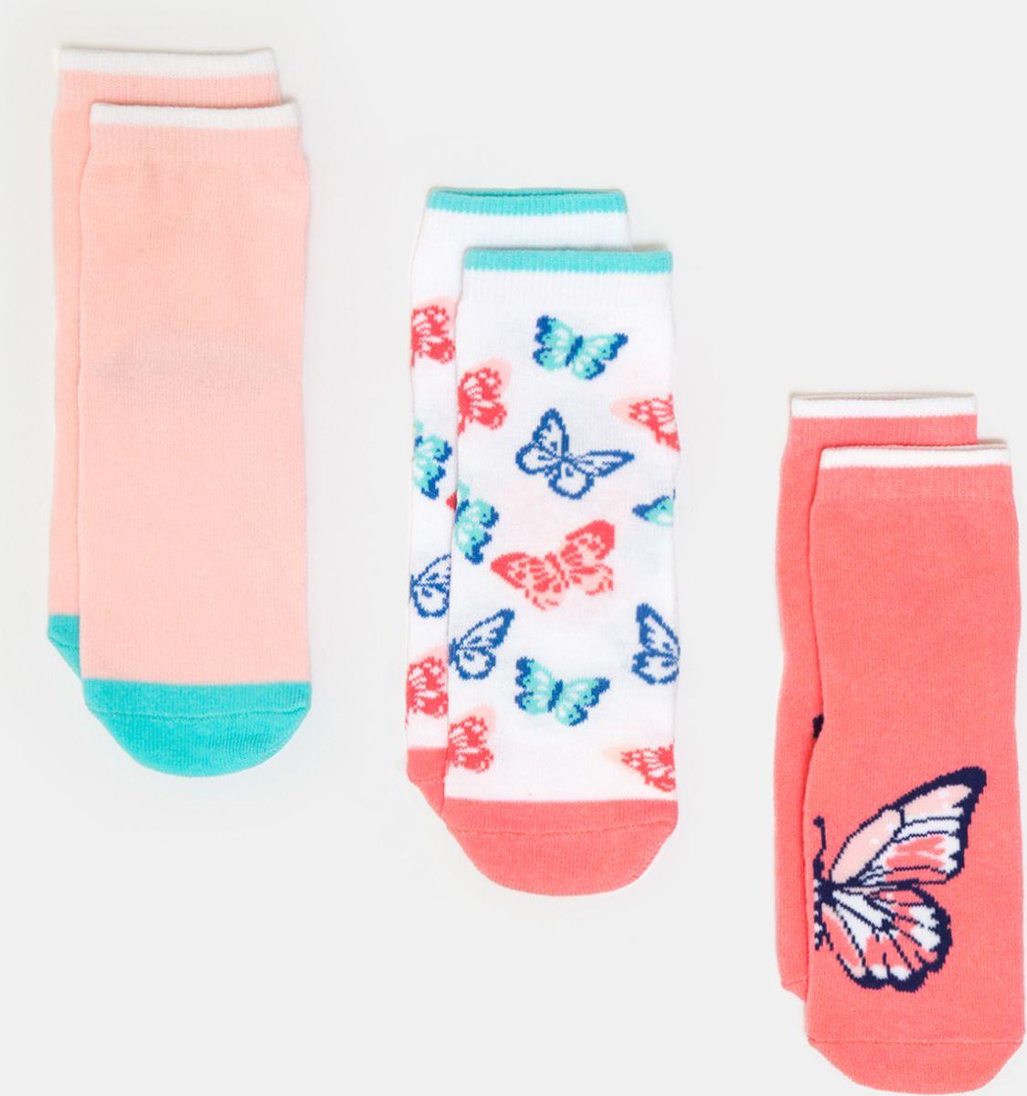 Носки для девочки infinity KIDS Avila, цвет: разноцветный, 3 пары. 32224420041_4400. Размер 20/22 носки 3 пары infinity kids для девочки цвет мультиколор