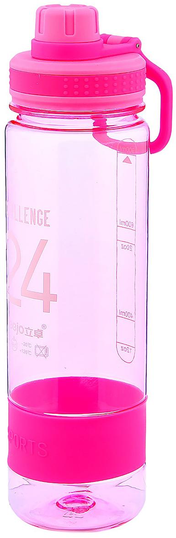 Бутылка Challenge 24, с ремешком, цвет: розовый, 700 мл2997956_розовыйОт качества посуды зависит не только вкус еды, но и здоровье человека. Бутылка - товар, соответствующий российским стандартам качества. Любой хозяйке будет приятно держать его в руках. С данной посудой и кухонной утварью приготовление еды и сервировка стола превратятся в настоящий праздник.
