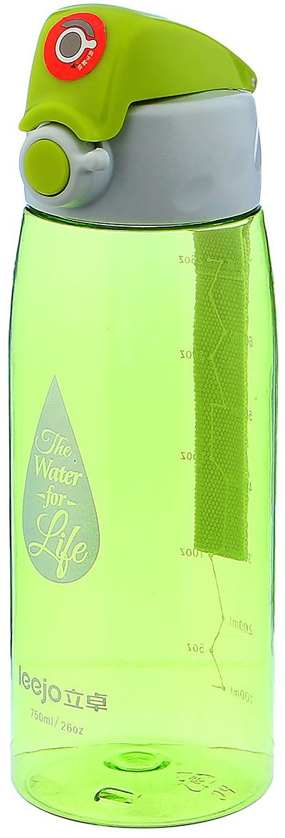 Бутылка спортивная Капля, с ремешком, со шкалой, цвет: зеленый, 750 мл2997958_зеленыйОт качества посуды зависит не только вкус еды, но и здоровье человека. Бутылка - товар, соответствующий российским стандартам качества. Любой хозяйке будет приятно держать его в руках. С данной посудой и кухонной утварью приготовление еды и сервировка стола превратятся в настоящий праздник.