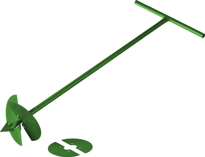 Бур садовый РОСТОК применяется при сооружении свайных фундаментов, установке столбов для забора, подготовке аккуратных ям для саженцев, а также поможет пробурить глубокие отверстия в грунте для внесения удобрений и подкормок в корневую зону деревьев и кустарников. Садовый инструмент РОСТОК - простота и надежность в сочетании с высоким качеством исполнения. Выполнен из высококачественной стали. Высота бура: 1000 мм. Диаметр шнека: 150/200 мм. Общая длина: 1070 мм. Длина рабочей части: 1000 мм..