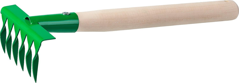 Грабельки РОСТОК применяются для очистки газонов от скошенной травы, листьев, выравнивания грядок. Рабочая часть грабель выполнена из высококачественной стали, устойчива к деформациям. Порошковая краска надежно защищает инструмент от коррозии.