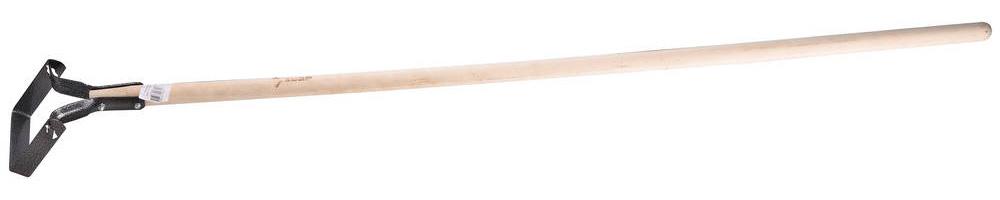Полольник применяется на садово-огородных участках для пропалывания грядок. С его помощью удобно удалять корни растений, которые остались после перекапывания почвы, а также можно убирать сорняки, не наклоняясь к земле. Рабочая часть выполнена из закаленной углеродистой стали, черенок - из твердых сортов древесины. Прочный инструмент ЗУБР из качественных материалов будет служить надежным помощником в течение многих лет. Прочная рабочая часть изготовлена из высококачественной углеродистой стали, закалена и покрыта краской для защиты от коррозии. Черенок из твердой древесины обладает высокой прочностью, не выскальзывает из рук. Наличие черенка позволяет работать не нагибаясь, экономит время и снижает утомляемость. Размер: 130х130х1200 мм.