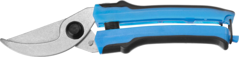 """Секатор """"СИБИН"""" произведен из качественных материалов на высокоточном оборудовании, что гарантирует чистый рез и продолжительный срок службы изделия. Применяется для обрезки веток деревьев и кустарников, а также стеблей цветов. Лезвия изготовлены из качественной стали Ст45 (ГОСТ 1050-88). Верхнее лезвие остро заточено и закалено. Лезвия имеют никелированное покрытие для защиты от коррозии. Эргономичные двухкомпонентные ручки снижают утомляемость при выполнении садовых работ. Максимальный диаметр реза: 15 мм. Длина: 220 мм."""