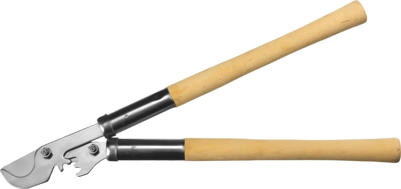 Сучкорез СИБИН, с зубчатым усилителем, рез до 30 мм, 550 мм87986Сучкорез СИБИН с зубчатым усилителем применяется для обрезки веток деревьев и кустарников. Произведены из качественных материалов на высокоточном оборудовании, что гарантирует чистый рез и продолжительный срок службы изделия. Лезвие изготовлено из стали Ст45 (ГОСТ 1050-88), остро заточено и закалено. Никелированное покрытие защищает лезвие от коррозии. Зубчатый усилитель снижает утомляемость при проведении садовых работ. Максимальный диаметр реза: 30 мм. Длина: 550 мм.