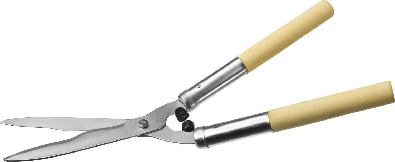 Кусторез СИБИН применяется для обрезки веток кустов и живых изгородей. Произведен из качественных материалов на высокоточном оборудовании, что гарантирует чистый рез и продолжительный срок службы изделия. Лезвия изготовлены из стали Ст45 (ГОСТ 1050-88). Волнообразный профиль лезвий облегчает рез и снижает утомляемость. Никелированное покрытие защищает лезвия от коррозии. Длина: 500 мм.