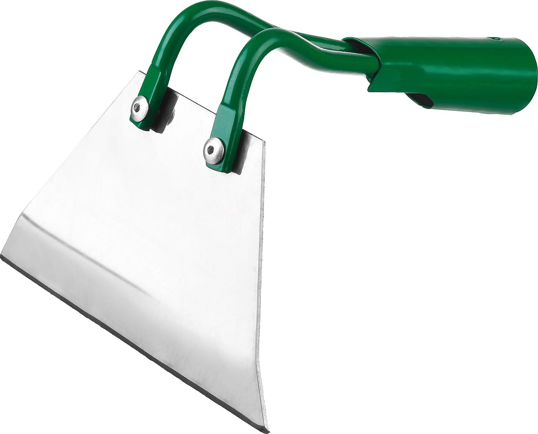 Мотыга Росток, без черенка, 90 х 150 мм99639Мотыга РОСТОК применяется на садово-огородных участках для рыхления почвы и подготовки ее к посадкам растений. С помощью мотыги можно придавать грядкам необходимую форму, сгребать мусор.