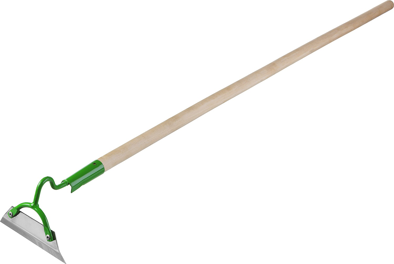 Мотыга РОСТОК применяется на садово-огородных участках для рыхления почвы и подготовки ее к посадкам растений. С помощью мотыги можно придавать грядкам необходимую форму, сгребать мусор. Прочный деревянный черенок.