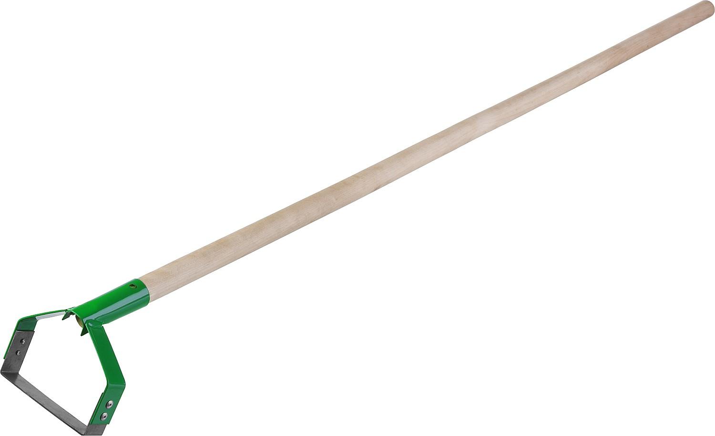 Полольник РОСТОК предназначен для удаления сорняков путем глубокой подрезки их корневой системы. Выполнен из высококачественной стали, устойчив к деформации. Порошковая краска обеспечивает защиту от коррозии и увеличивает срок службы изделия. Прочный деревянный черенок позволяет не наклоняться к земле, существенно экономя силы и время при обработке почвы.