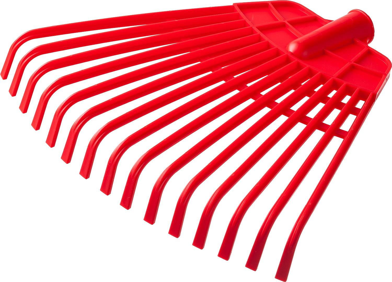 Грабли веерные без черенка GRINDA применяются для очистки газонов от скошенной травы, листьев, выравнивания грядок. Жесткие и гибкие пластиковые зубцы. Низкий вес грабель облегчает работу с ними.