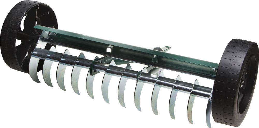 Грабли садовые аэраторные  Raco , на колесах, 12 зубцов, 400 мм -  Ручной садовый инструмент
