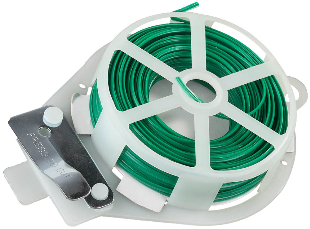 Проволока подвязочная плоская RACO используется для подвязки растений, связывания сучьев, мешков и пр. Прочная и гибкая водостойкая проволока. Специальное покрытие делает проволоку приятной на ощупь и придает дополнительную защиту. Длина: 20 м. Покрытие: винил.