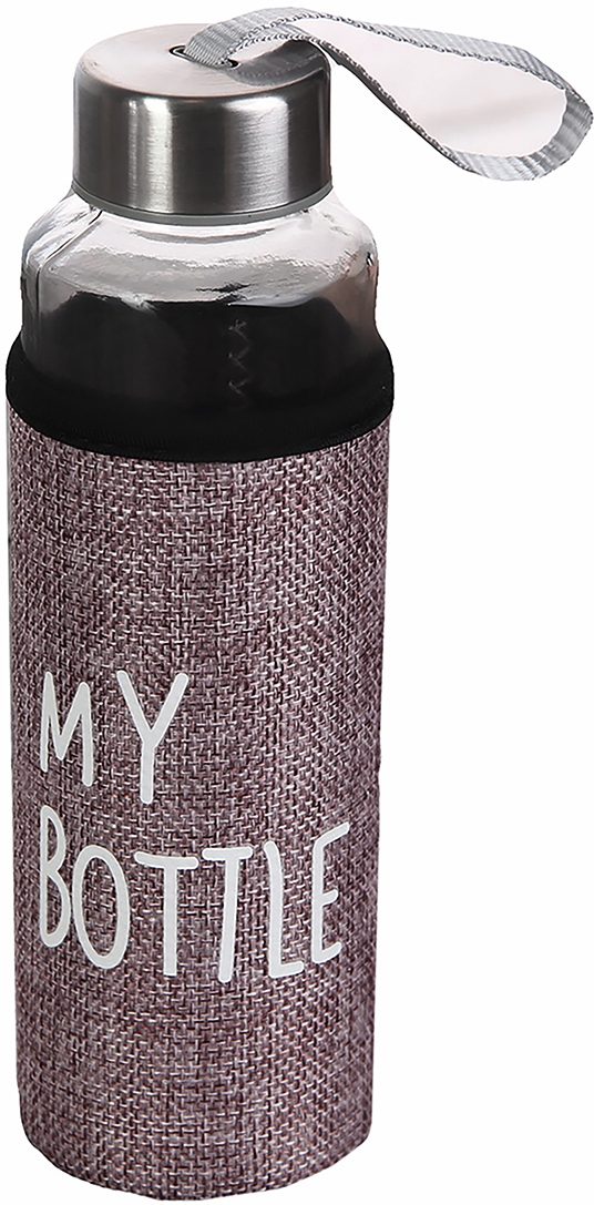 "Бутылка ""Ротанг"", цвет: черный, 400 мл"