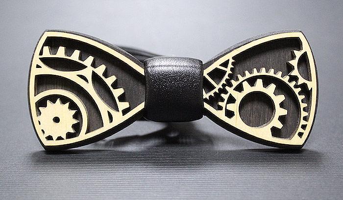 Галстук-бабочка мужской Blackbow, цвет: черный. 030.шестерни. Размер универсальный