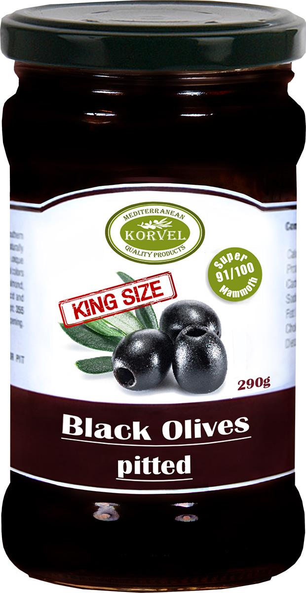 Korvel Маслины без косточки супер маммут, 290 г маслины gonzalez gold без косточек 425г