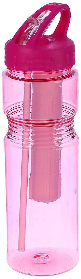 Бутылка спортивная, с поильником, с резервуаром под лед, цвет: розовый, 750 мл. 27703732770373_розовыйОт качества посуды зависит не только вкус еды, но и здоровье человека. Бутылка - товар, соответствующий российским стандартам качества. Любой хозяйке будет приятно держать его в руках. С данной посудой и кухонной утварью приготовление еды и сервировка стола превратятся в настоящий праздник.