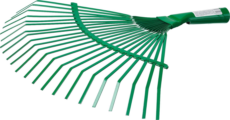 Грабли веерные без черенка Росток, пластинчатые, 385 x 450 мм99625Грабли РОСТОК применяются для аэрирования почвы и сбора опавшей листвы в саду и огороде. Выполнены из высококачественной стали.