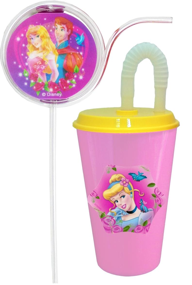 Disney Набор детской посуды Золушка 2 предметаDCM630ПБокал из пищевого пластика 500 мл с трубочкой и крышкой + дополнительная многоразовая трубочка из пищевого пластика формы спининг с меняющимся рисунком с двух сторон под разным углом зрения .Дизайн Принцессы. Для холодных и горячих напитков (600С). Мыть теплой водой с губкой и жидким мылом. Не рекомендуется ставить в СВЧ печь и мыть в посудомоечной машине.