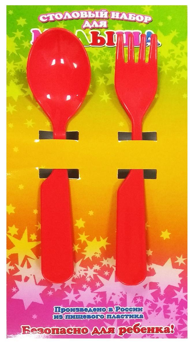 Фото АртХаус Набор детской посуды цвет красный 2 предмета
