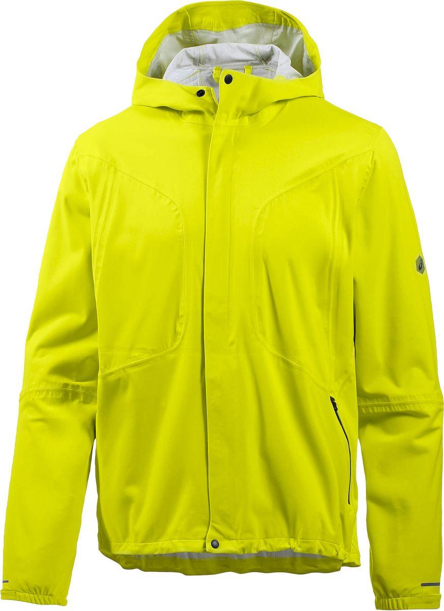 Ветровка мужская Asics Accelerate Jacket, цвет: желтый. 154594-0486. Размер XXL (52) куртки asics куртка accelerate jacket