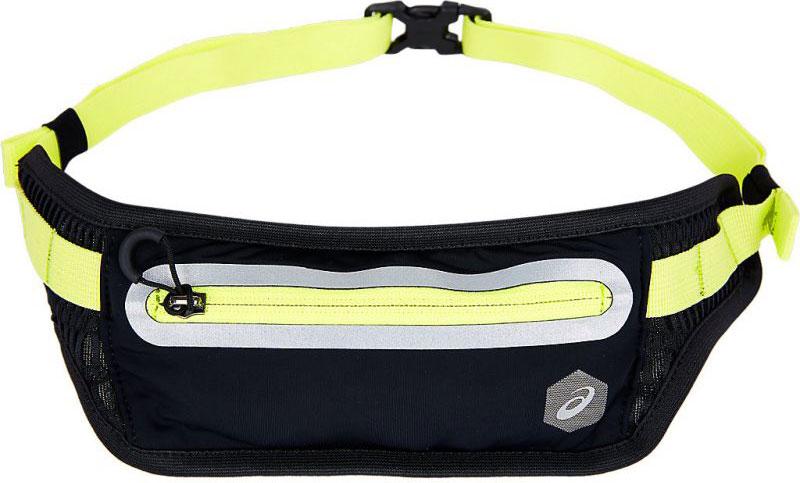 Сумка на пояс Asics Waist Pouch, цвет: черный, желтый. 155898-0392