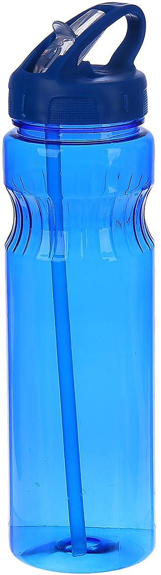 Бутылка спортивная Полоски, с поильником, цвет: синий, 750 мл2770370_синийОт качества посуды зависит не только вкус еды, но и здоровье человека. Бутылка - товар, соответствующий российским стандартам качества. Любой хозяйке будет приятно держать его в руках. С данной посудой и кухонной утварью приготовление еды и сервировка стола превратятся в настоящий праздник.