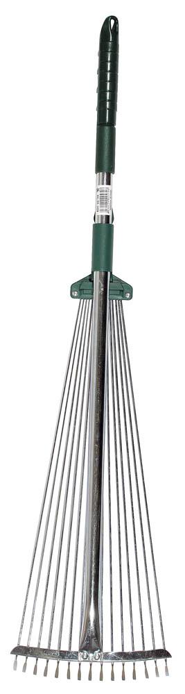 Грабли веерные  Raco , регулируемые, ручка 0,79-1,24 м, 15 круглых зубцов, 175-550 мм -  Ручной садовый инструмент