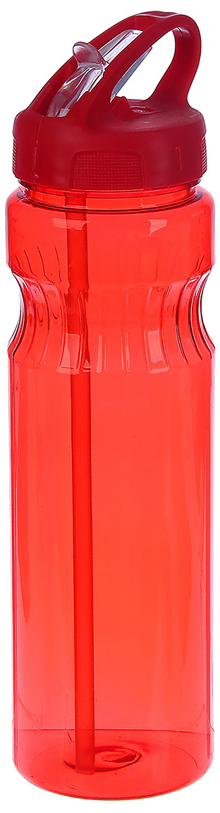 Бутылка спортивная Полоски, с поильником, цвет: красный, 750 мл2770370_красныйОт качества посуды зависит не только вкус еды, но и здоровье человека. Бутылка - товар, соответствующий российским стандартам качества. Любой хозяйке будет приятно держать его в руках. С данной посудой и кухонной утварью приготовление еды и сервировка стола превратятся в настоящий праздник.
