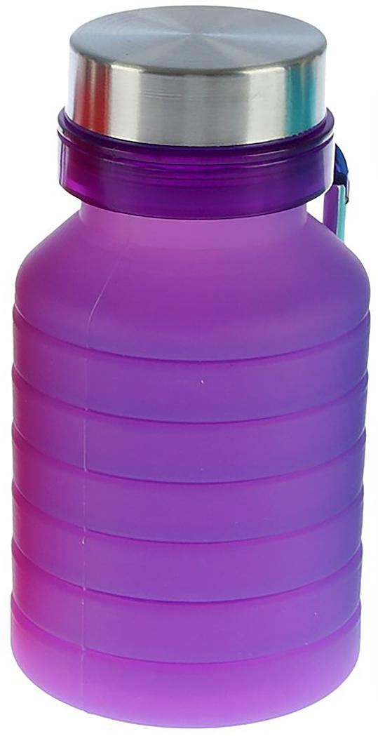 Бутылка, раздвижная, на карабине, цвет: фиолетовый, 550 мл2770362_фиолетовыйОт качества посуды зависит не только вкус еды, но и здоровье человека. Бутылка - товар, соответствующий российским стандартам качества. Любой хозяйке будет приятно держать его в руках. С данной посудой и кухонной утварью приготовление еды и сервировка стола превратятся в настоящий праздник.