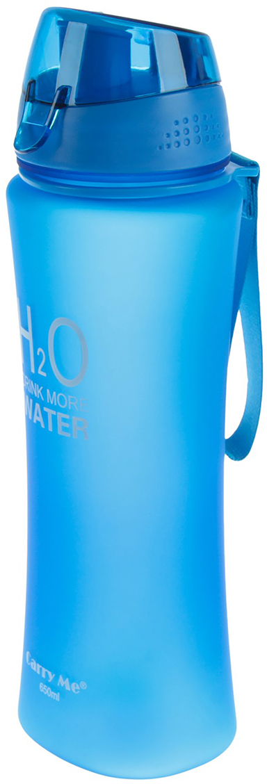 Бутылка H2O, на браслете, цвет: синий, 650 мл2770356_синийОт качества посуды зависит не только вкус еды, но и здоровье человека. Бутылка - товар, соответствующий российским стандартам качества. Любой хозяйке будет приятно держать его в руках. С данной посудой и кухонной утварью приготовление еды и сервировка стола превратятся в настоящий праздник.
