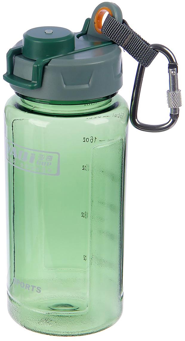 Бутылка спортивная, с крышкой и шкалой, на карабине, цвет: зеленый, 650 мл2770099_зеленыйОт качества посуды зависит не только вкус еды, но и здоровье человека. Бутылка - товар, соответствующий российским стандартам качества. Любой хозяйке будет приятно держать его в руках. С данной посудой и кухонной утварью приготовление еды и сервировка стола превратятся в настоящий праздник.