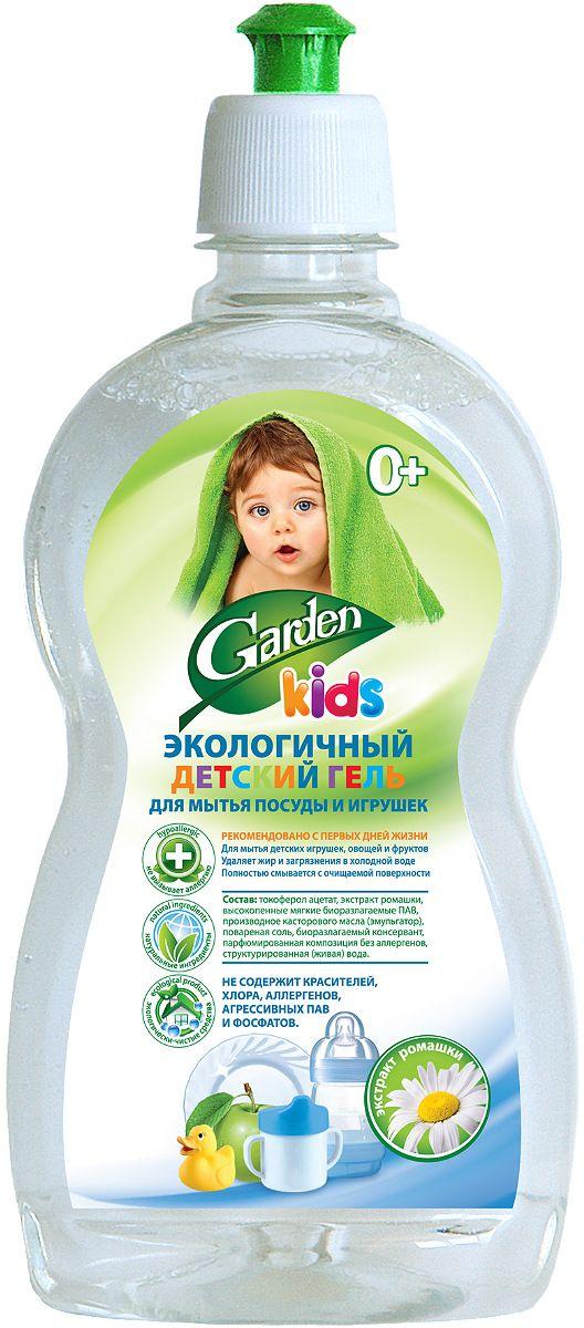 Гель для мытья посуды и игрушек Garden Kids, детский. с экстрактом ромашки, 500 мл4600104032448Гель предназначен для мытья детской посуды, аксессуаров для кормления новорожденных (сосок, бутылочек, поильников), игрушек, фруктов и овощей. Поваренная соль удаляет загрязнения и жир даже в холодной воде.Экстракт лимона обладает антибактериальным эффектом.Экстракт ромашки обладает сильным бактерицидным, противовоспалительным и успокаивающим действием.Не содержат красителей, хлора, аллергенов, агрессивных пав, сульфатов и фосфатов.Не вызывает аллергии и раздражения кожи, безопасен для детей с первых дней жизни.100% биоразлагаемая формула.Garden Kids - 100% натуральное сырье без фосфатов, красителей и продуктов нефтехимии, гипоаллергенны, экономичны в расходе. Безопасно с первых дней жизни!Комфорт в использовании и забота о природе!