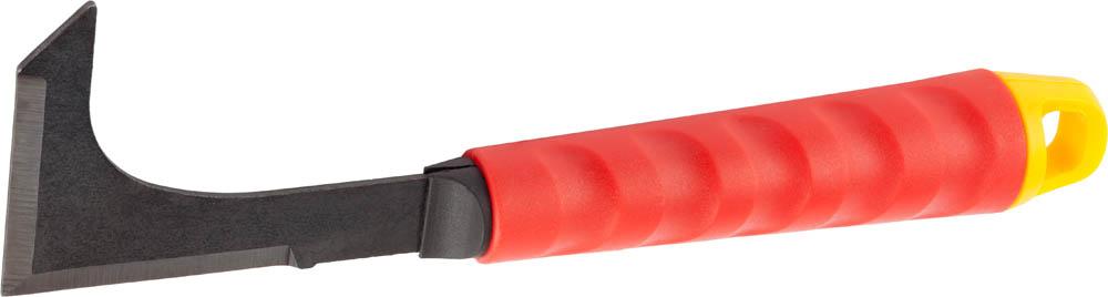 Универсальный огородный нож Grinda, с коннекторной системой, 250 мм58392Коннекторная система позволяет использовать удлиняющие стержни, что значительно повышает удобство и снижает утомляемость при работах в саду. Рабочие части изделий изготовлены из углеродистой стали высочайшего качества с антикоррозионным покрытием. Эргономичные пластиковые рукоятки имеют особый ребристый рельеф для более комфортного захвата. Применяется для обрезки травы и сорняков в ограниченном пространстве. Рабочая часть изготовлена из высококачественной углеродистой стали с антикоррозионным покрытием. Эргономичная рукоятка имеет ребристый рельеф для защиты от скольжения. Использование удлиняющего стержня позволяет снизить утомляемость при выполнении садовых работ. Размер: 250 мм.