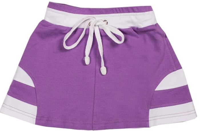 Юбка для девочки СовенокЯ, цвет: фиолетовый, белый. 14-852. Размер 60