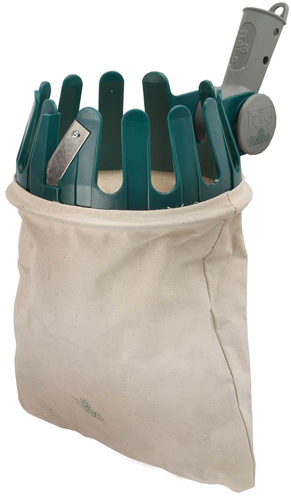 Удобные и функциональные плодосборники RACO позволят бережно собрать ваш урожай. Используется для бережного и комфортного сбора плодов. Крепление под черенок с отверстиями под шурупы позволит использовать плодосборник RACO со стандартными деревянными черенками. Лезвие для срезания плодов облегчит работу. Материал рабочей части не подвержен коррозии, что обеспечит долговечность изделия. Хлопковая сумка для сбора растений обеспечит бережный сбор плодов. Диаметр рабочей части: 16 см.