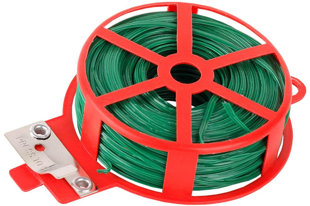 Проволока GRINDA подвязочная применяется для подвязывания хрупких растений, связывания сучьев, мешков, проводов и пр. Специальное антикоррозионное покрытие. Катушка снабжена ударопрочным приспособлением для отрезания проволоки. Проволока изготовлена из низкоуглеродистой стали имеет специальное антикоррозионное покрытие надежно защищающее проволоку от внешних воздействий и продлевающее срок службы изделия. Длина: 30 м.