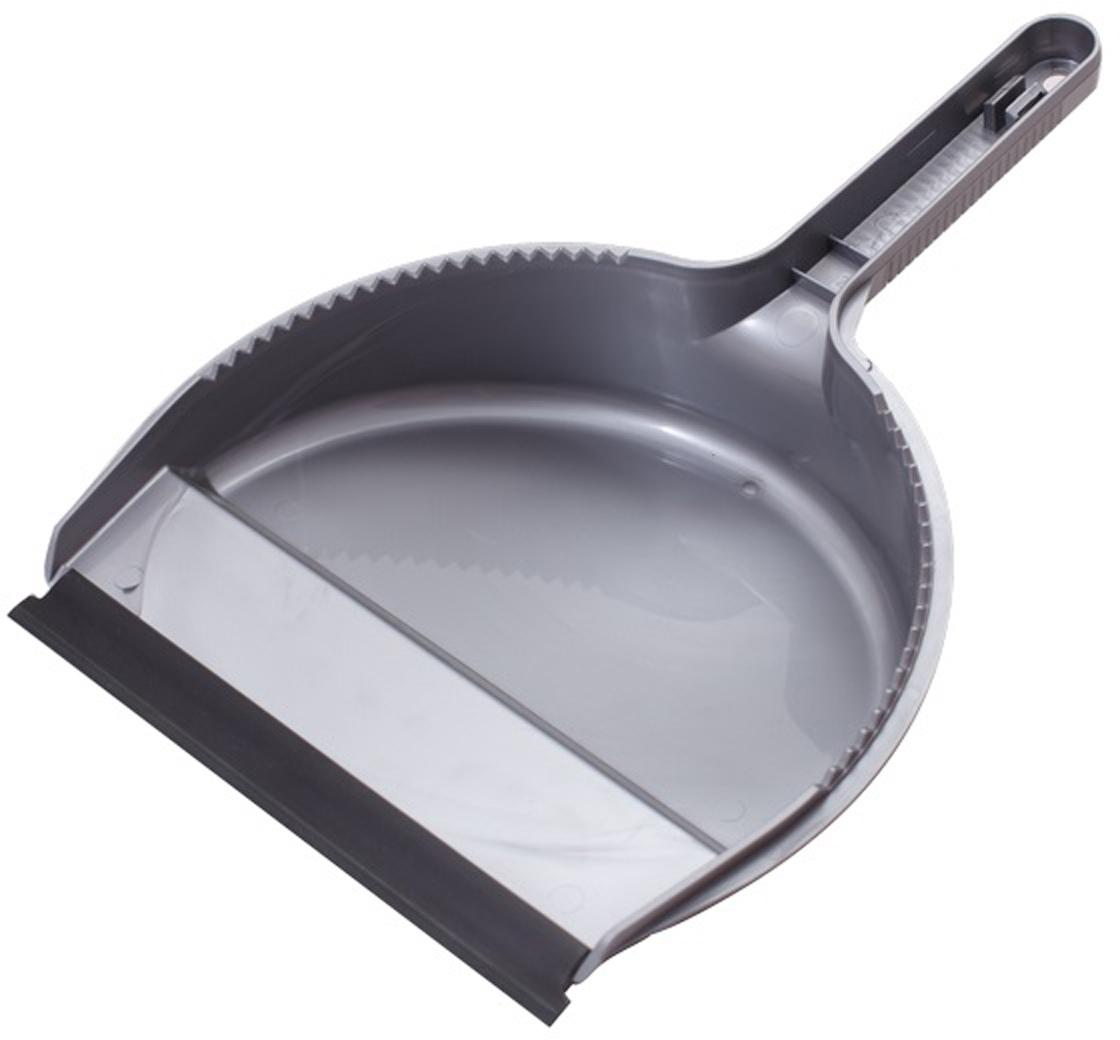 Совок Svip Лаура, с кромкой, цвет: серебряный svip original щетка для пола совок