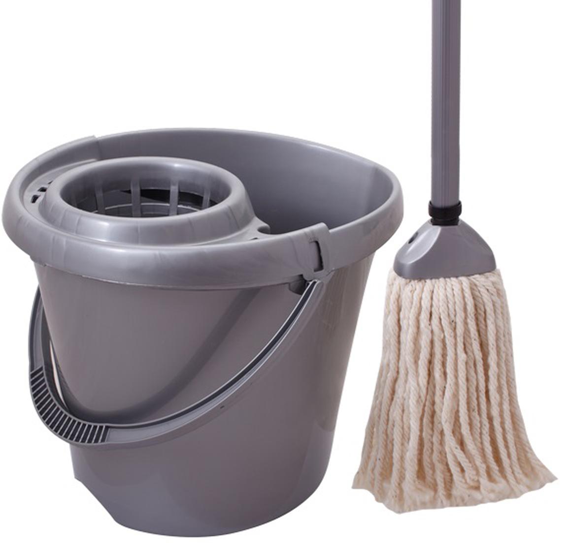 Комплект для влажной уборки Svip Моп, цвет: серебристый комплект для уборки ecovacs d76