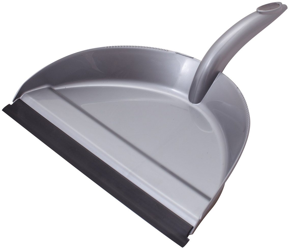Совок Svip Клио, с кромкой, цвет: серебряный svip original щетка для пола совок