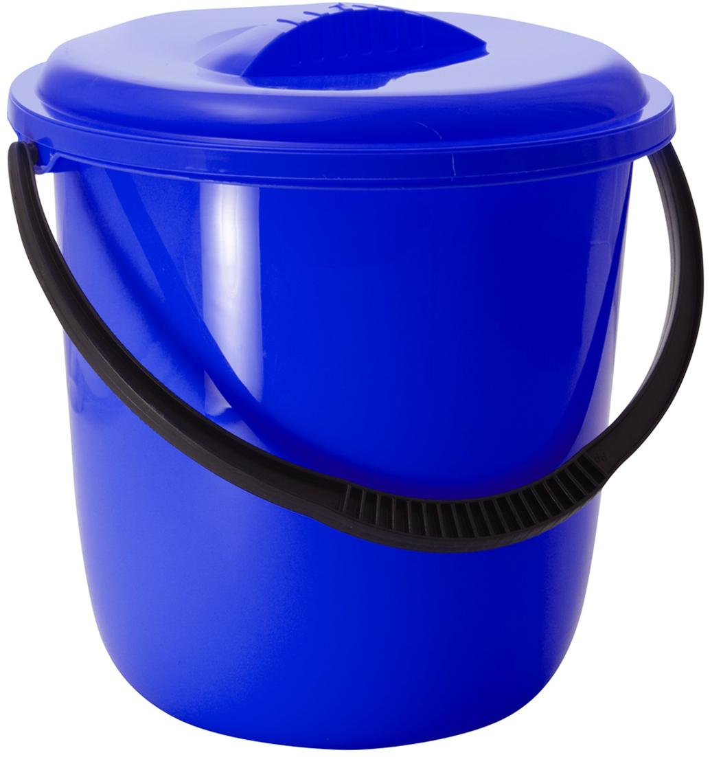 Ведро Svip Классика, с крышкой, цвет: синий, 7 л ведро svip ориджинал цвет бирюзовый 12 л