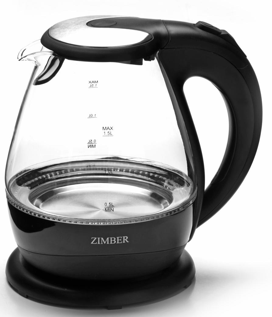 Mayer & Boch MB-11183 электрический чайник11183Корпус электрического чайника Zimber выполнен из высококачественного термостойкого стекла, сохраняющего природные свойства воды и цветного термостойкого пластика. Благодаря большой мощности чайник за считанные минуты вскипятит воду. Прозрачный корпус со шкалой контроля уровня воды и внутренней подсветкой, позволяет следить за процессом нагрева. Чайник соединен с базой центральным контактом и легко вращается на 360 градусов. Крышка чайника открывается автоматически от легкого нажатия на кнопку. Нагревательный элемент чайника встроен в плоское дно и надежно защищен стальной пластиной, что делает его чистку максимально удобной. Среди характеристик безопасности использования чайника стоит отметить автоматический и ручной выключатель, а также защиту от перегрева.