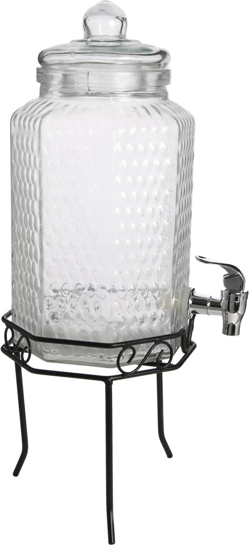 """Емкость для напитков """"Magic Home"""" выполнена из прозрачного стекла и снабжена крышкой.  Предназначена для любых напитков.  Размер 16 х 32 х 16 см. Не рекомендуется мыть в посудомоечной машине."""