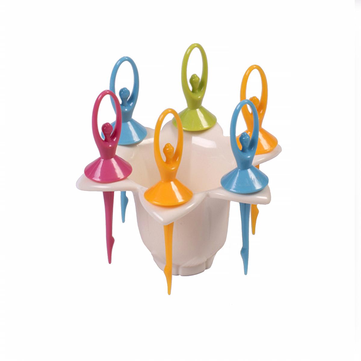 Набор шпажек для канапе Magic Home Балерины, с подставкой, 7 предметов osmrk led rear bumper light brake lamp driving light night running lamp for mazda cx 5 2012 16