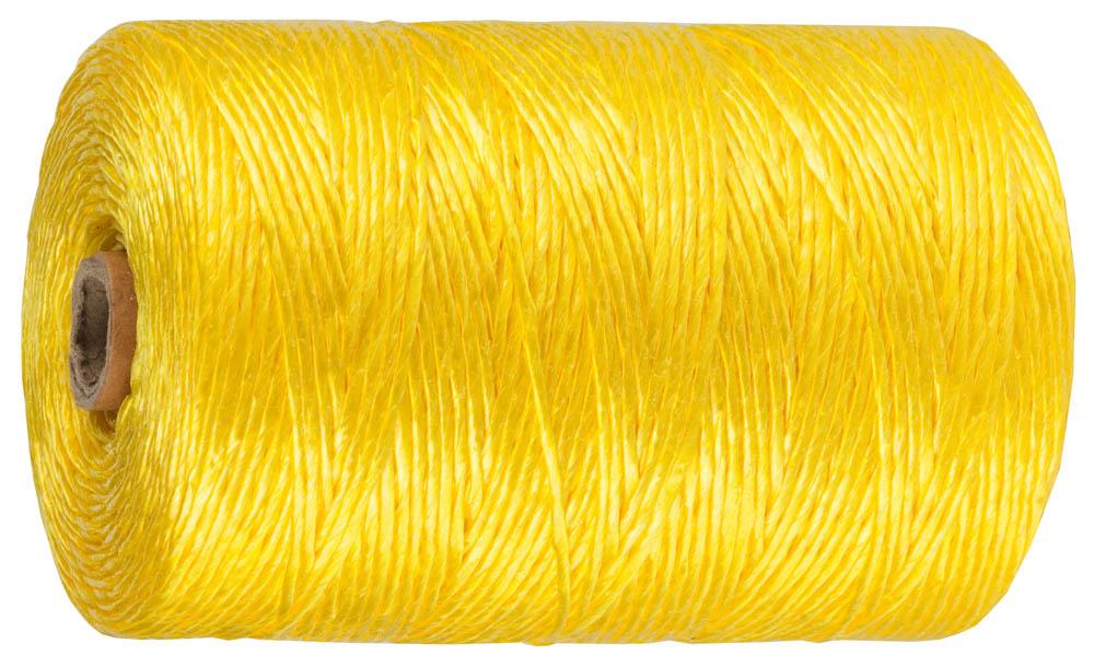 Шпагат полипропиленовый ЗУБР, многоцелевой, цвет: желтый, диаметр 1,8 мм, 110 м, 50 кгс, 1,2 ктекс57662Шпагат ЗУБР предназначен для хозяйственно-бытовых целей и упаковочных работ. Высокая износостойкость. Не подвержен гниению и плеснивению. Положительная плавучесть. Устойчив к действию кислот, щелочей и органических растворителей. Длина 110 м. Диаметр 1,8 мм. Цвет желтый.