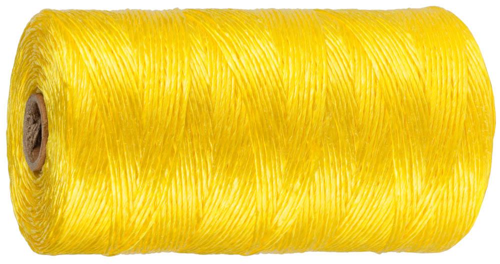 Шпагат полипропиленовый Stayer, многоцелевой, цвет: желтый, диаметр 1,5 мм, 60 м, 32 кгс, 0,8 ктекс шпагат садовый в ассортименте