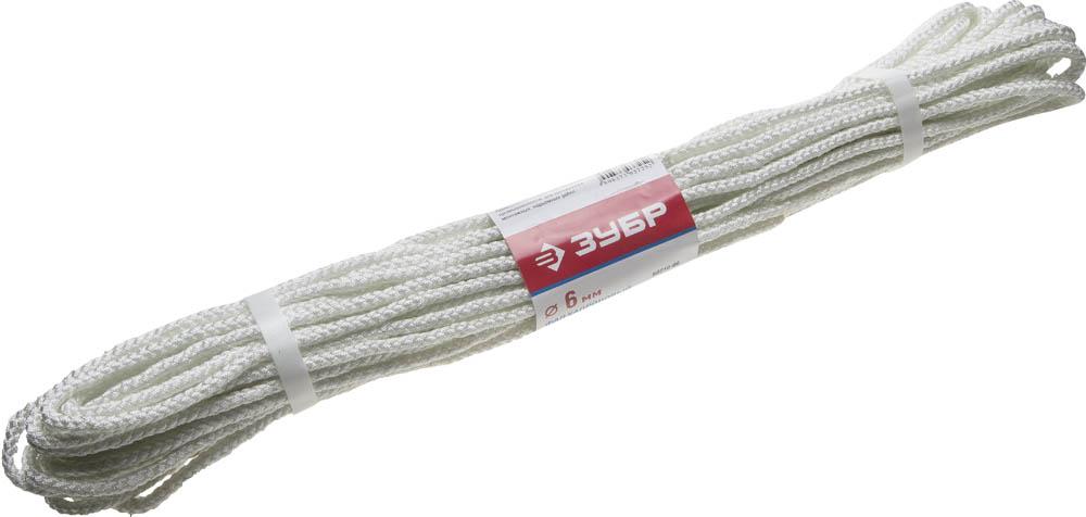 Фал капроновый ЗУБР, диаметр 6,0 мм, 20 м, 650 кгс, 20,5 ктекс03940Фал ЗУБР применяется в различных областях промышленности, для выполнения монтажных, подъемных работ. Длина 20 м. Диаметр 6 мм.