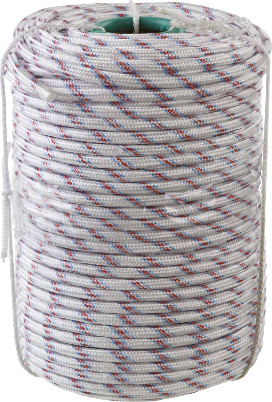 Фал плетеный полипропиленовый  СИБИН , 24-прядный, с полипропиленовым сердечником, диаметр 10 мм, бухта 100 м, 700 кгс -  Аксессуары для сада и огорода