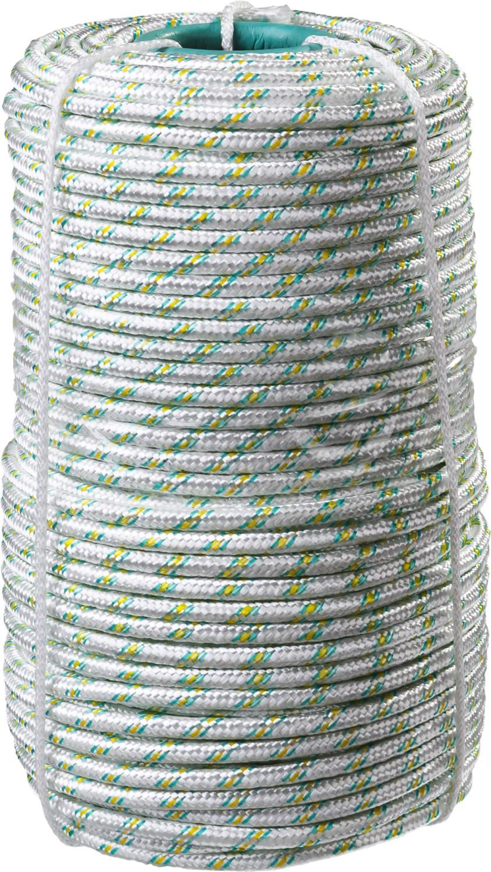 Фал плетеный капроновый СИБИН, 16-прядный, с капроновым сердечником, диаметр 8 мм, бухта 100 м, 1000 кгс garda decor консоль