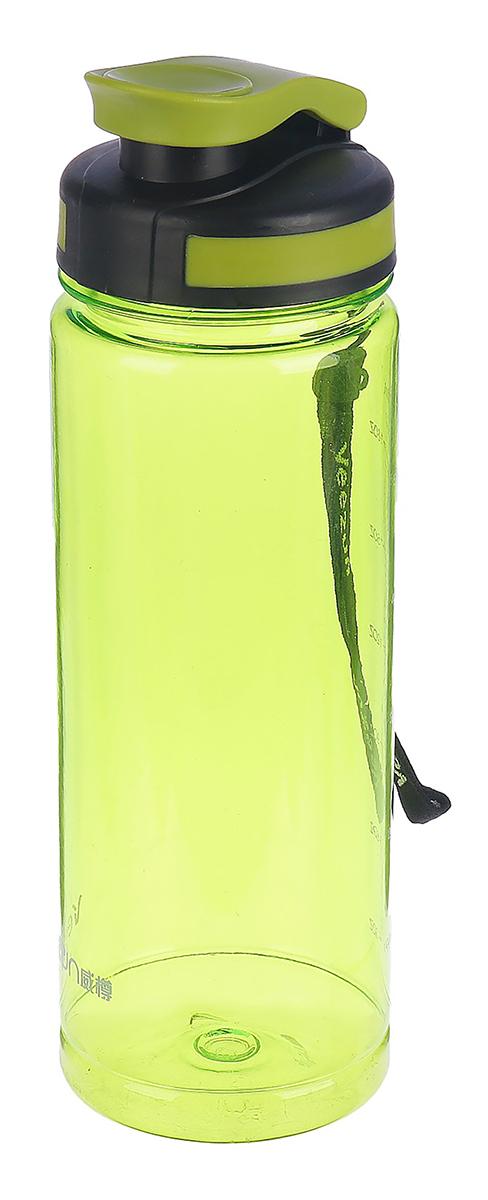 Бутылка спортивная, со шнурком, цвет: зеленый, 700 мл бутылка гантеля спортивная irontrue цвет зеленый 2 2 л