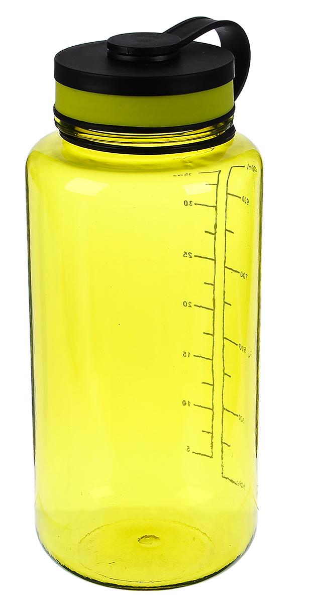 Бутылка спортивная, цвет: зеленый, 1 л бутылка гантеля спортивная irontrue цвет зеленый 2 2 л